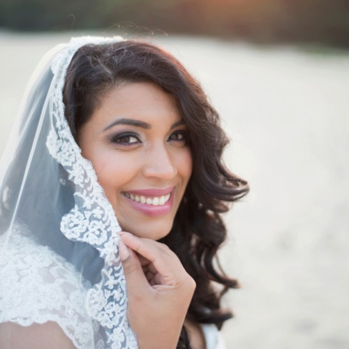 Bruidsfotografie van bruid met prachtige sluier