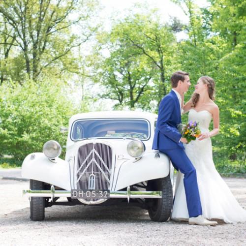 Het trouwvervoer inzetten tijdens de bruidsreportage