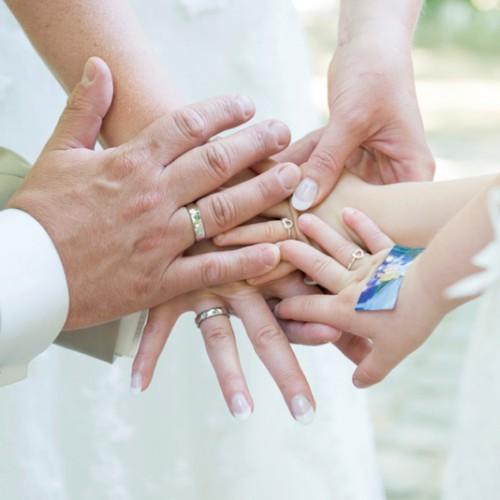 Trouwfotografie met kinderen tijdens de gelofte