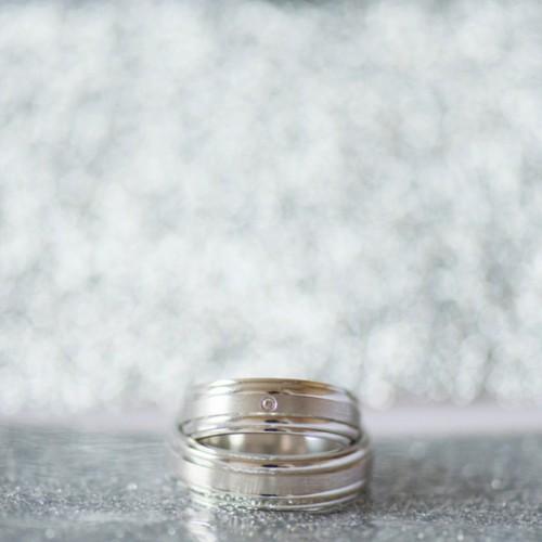 Trouwfotografie: shot van de trouwringen