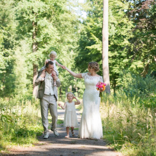 Trouwfotograaf voor bruidspaar met kinderen
