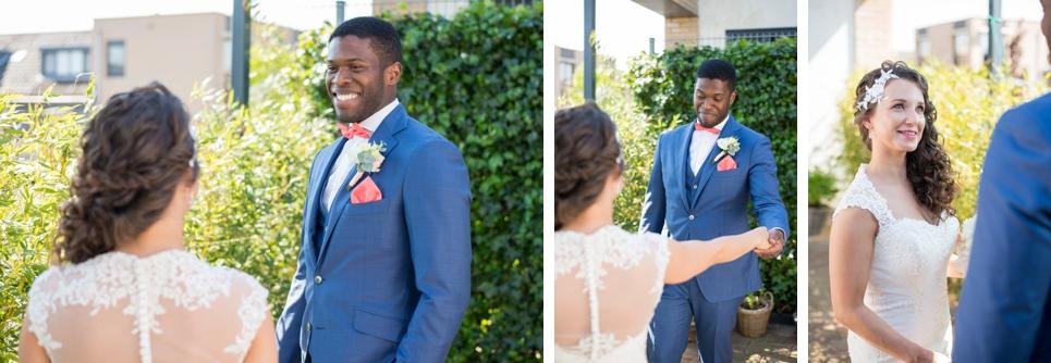 first-look-bruiloft-rotterdam-tuin-dakterras