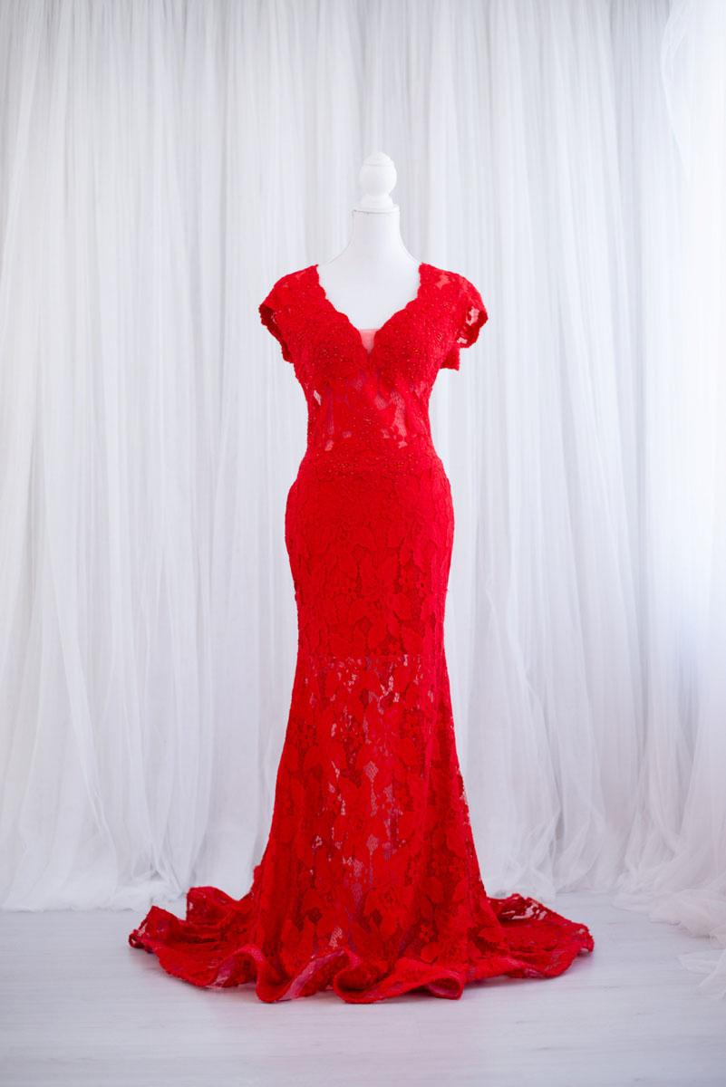 Rode galajurk uit de collectie van Blik en Bloos Fotografie - Pleun