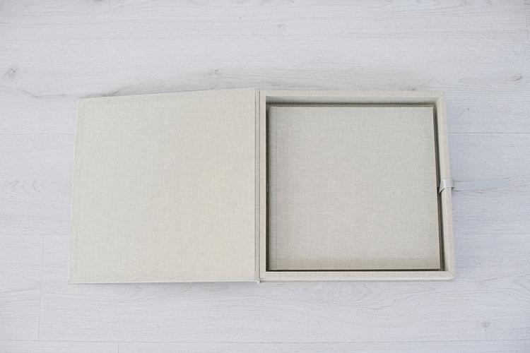 album-handgemaakt-linnen-bewaarbox-mat-fotopapier